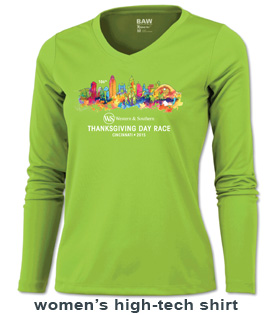 Womens 2015 Thanksgiving Day Race T-shirt